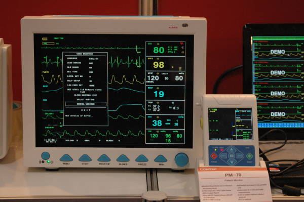 Cardiovascular Monitoring System : Heart monitoring screen by contec medical systems