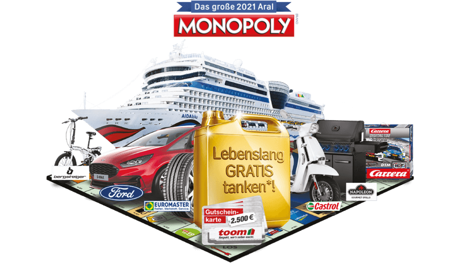 Das große 2020 Aral Monopoly
