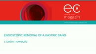 Endoscopic removal of a gastric band
