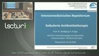 """Sehen Sie hier das Video """"kalkulierte Antibiotikatherapie"""" gratis"""