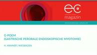 G-POEM - Gastrische Perorale Endoskopische Myotomie
