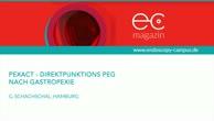 PEXACT Direktpunktions PEG nach Gastropexie - Magensonde