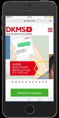 DKMS WhatsApp  - Jetzt anmelden_