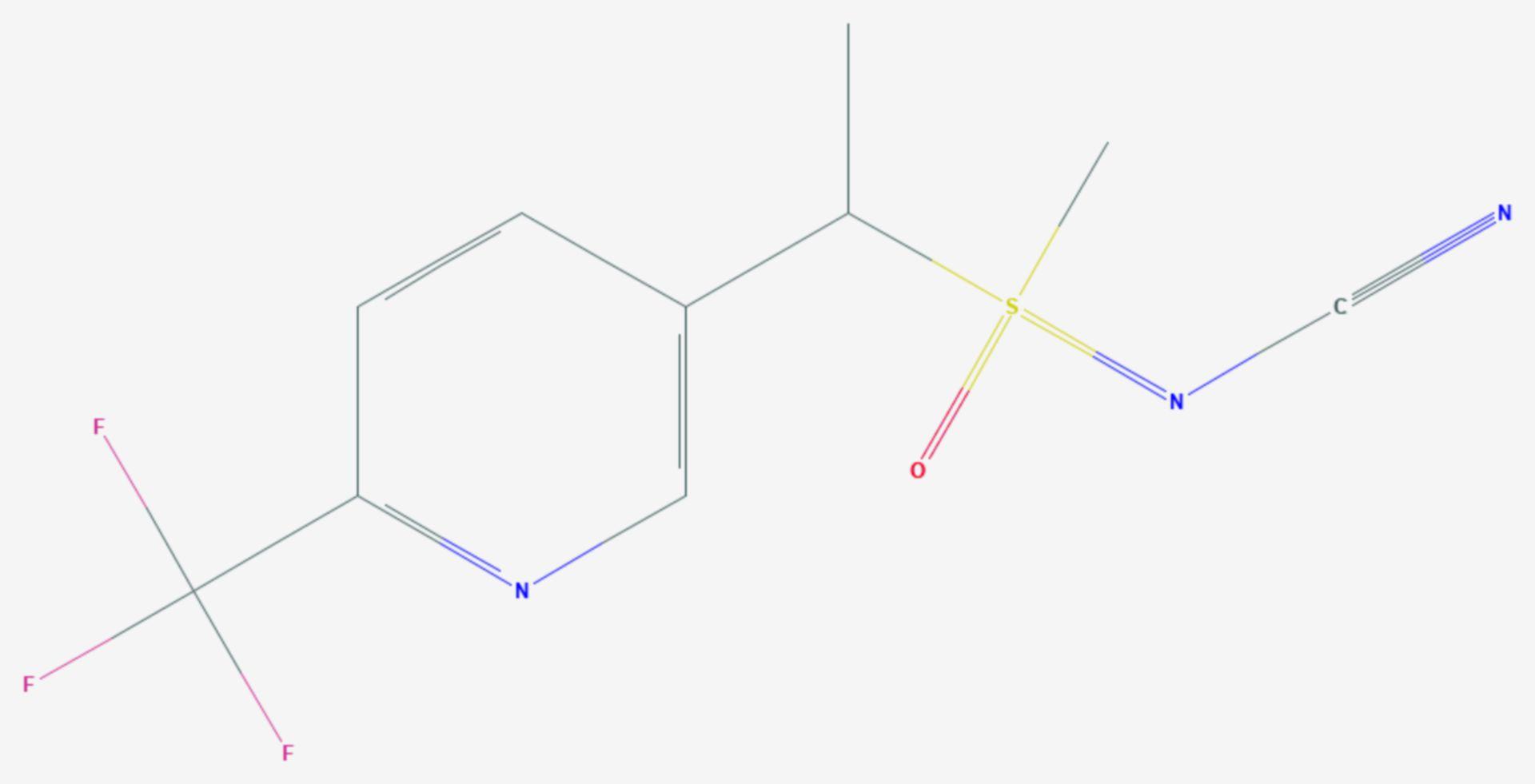 Sulfoxaflor (Strukturformel)