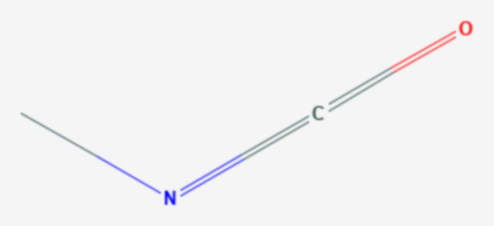 Methylisocyanat (Strukturformel)