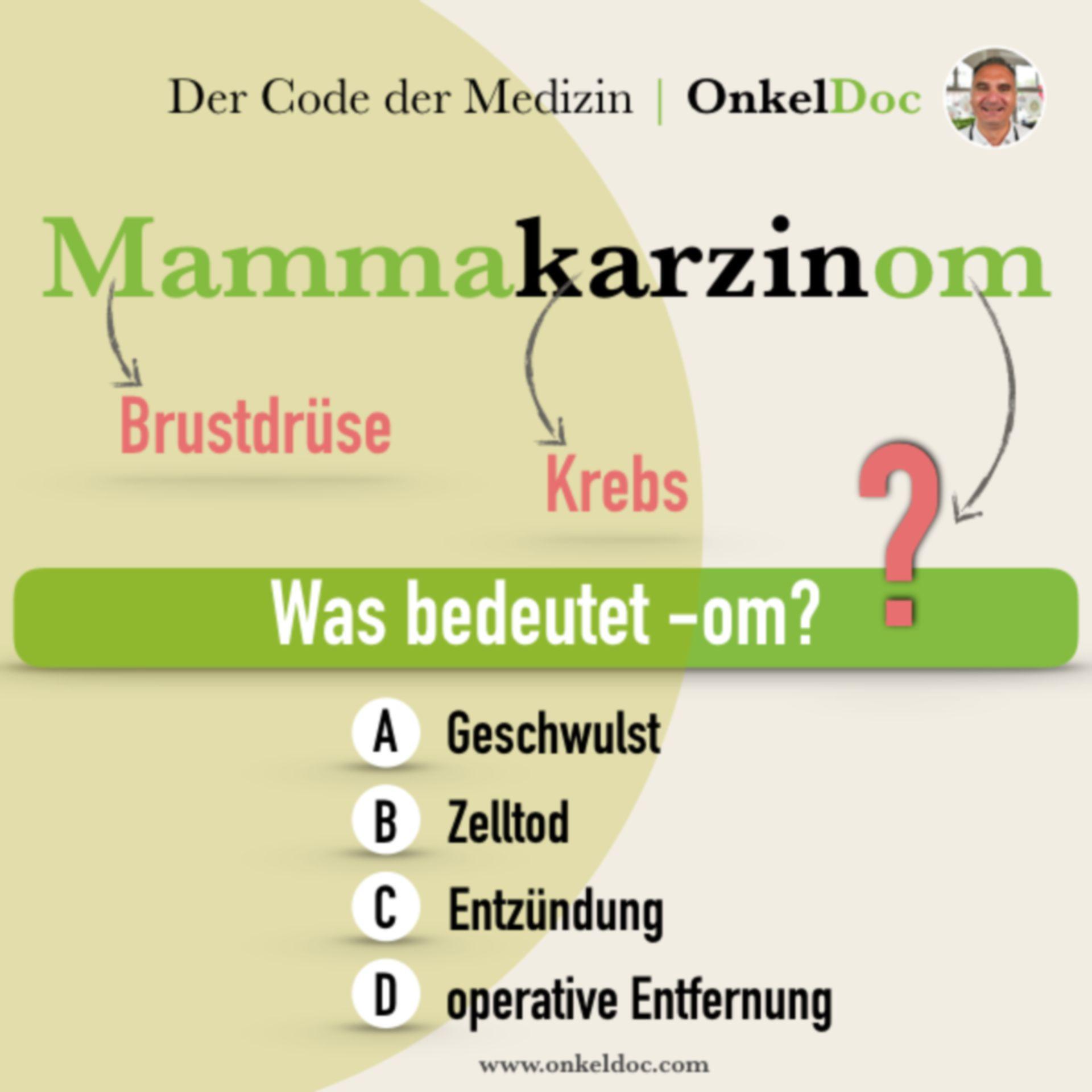 Frage zum Code Mammakarzinom!