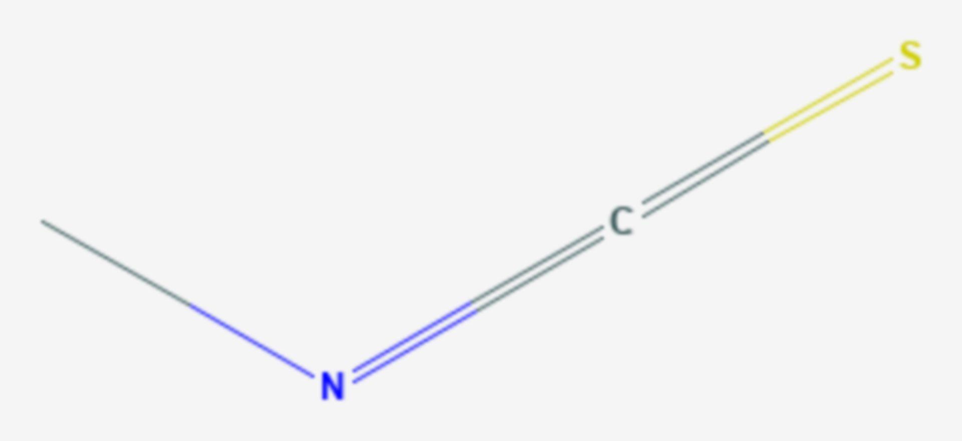 Methylisothiocyanat (Strukturformel)