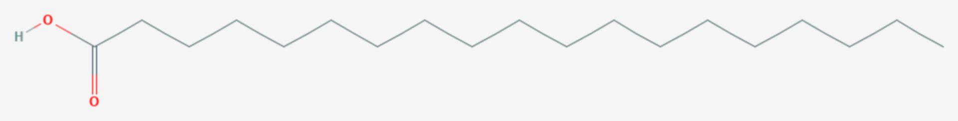 Nonadecansäure (Strukturformel)