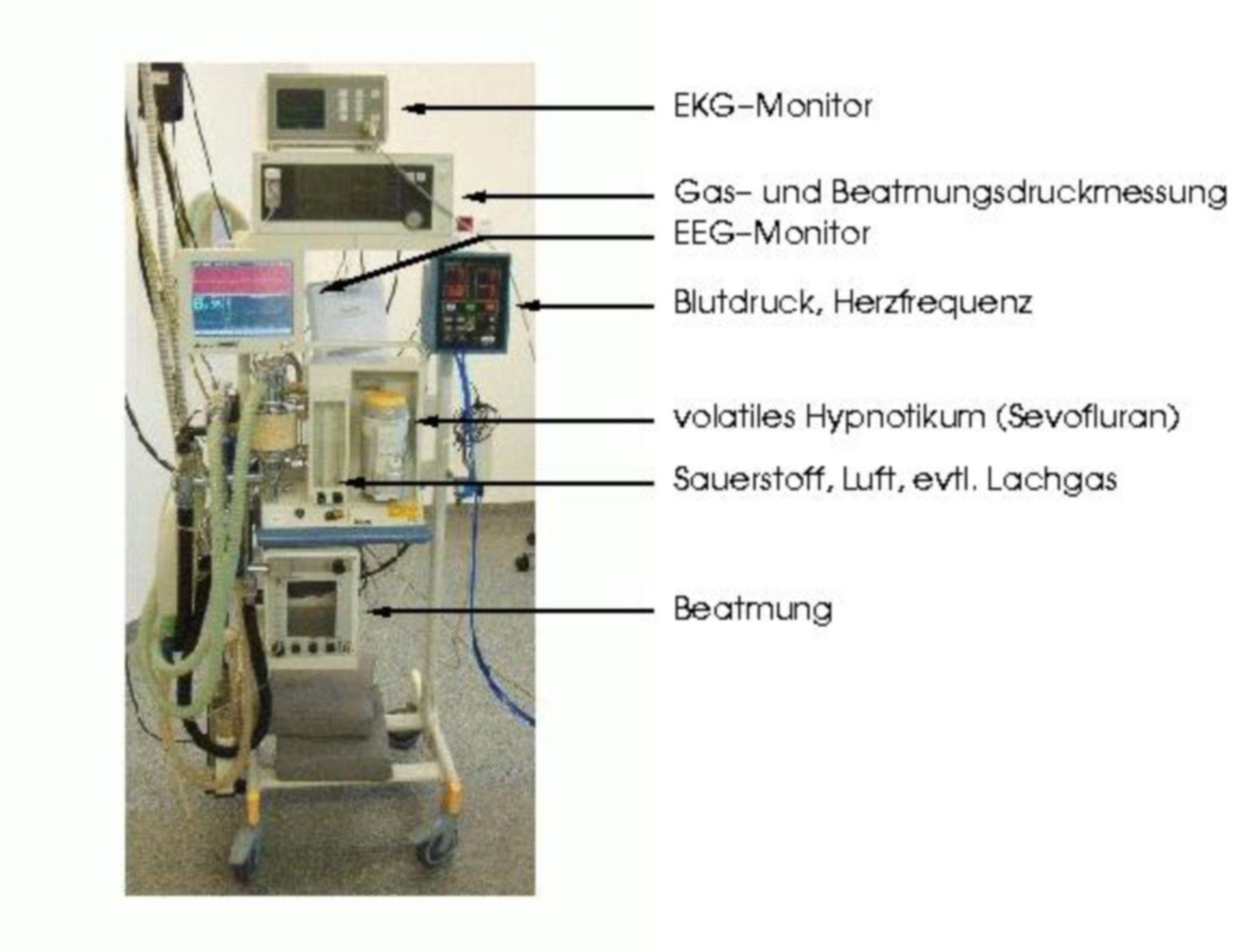 Macchina per anestesia con monitoraggio