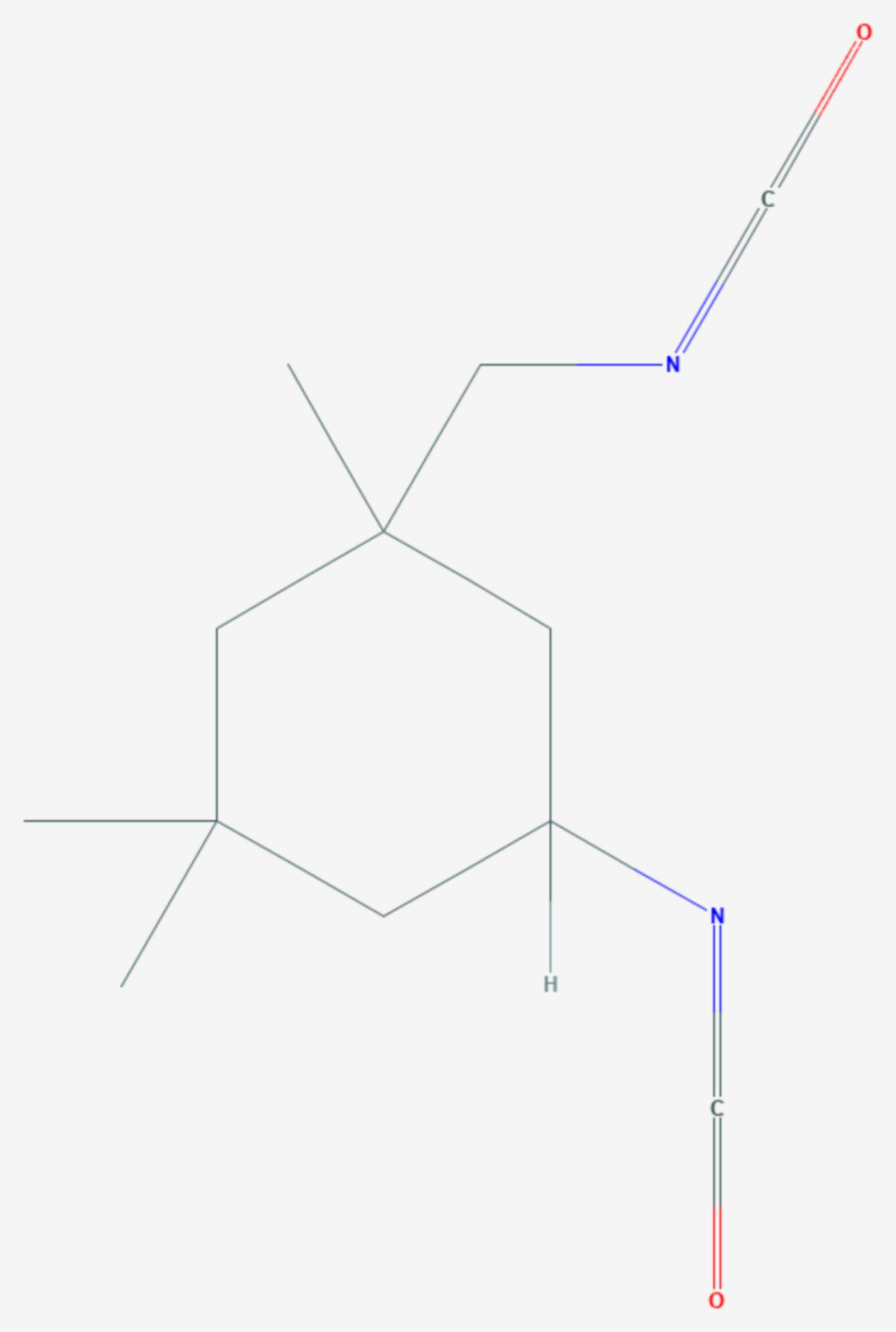 Isophorondiisocyanat (Strukturformel)