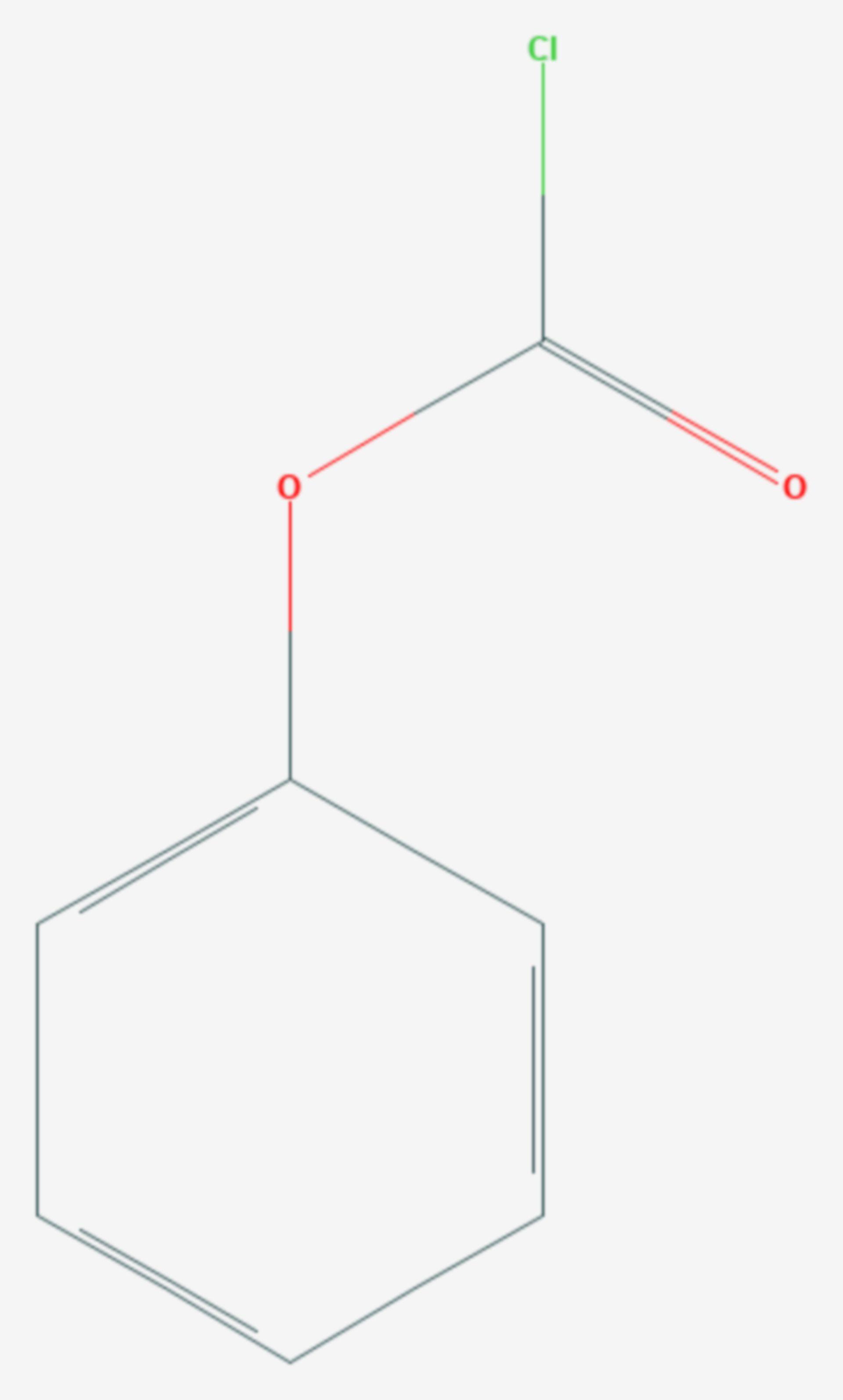 Chlorameisensäurephenylester (Strukturformel)