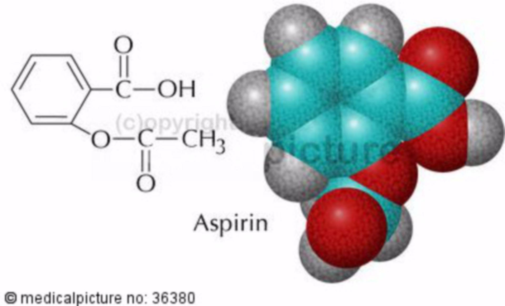 Aspirin, molecular structure