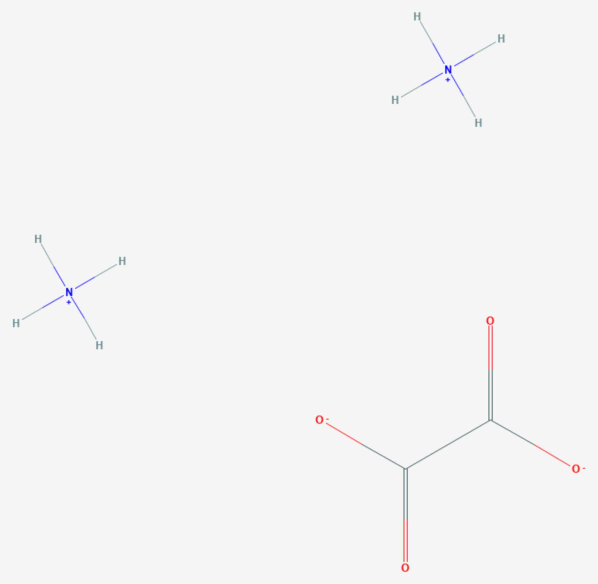 Ammoniumoxalat (Strukturformel)