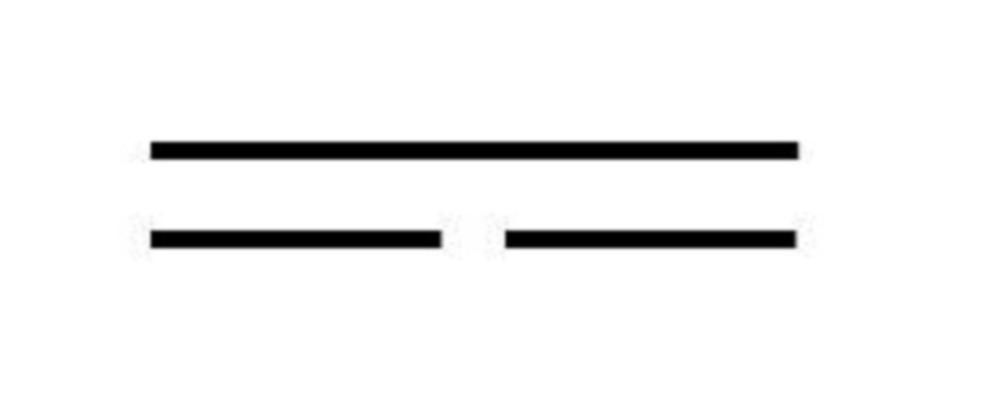 Simbolo circuito in corrente continua