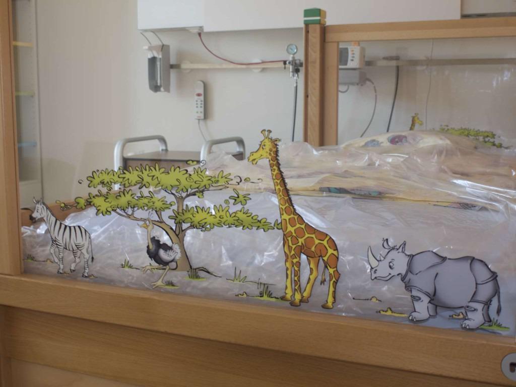 Bett im Münchner Kinderpalliativezentrum © Erich Lederer