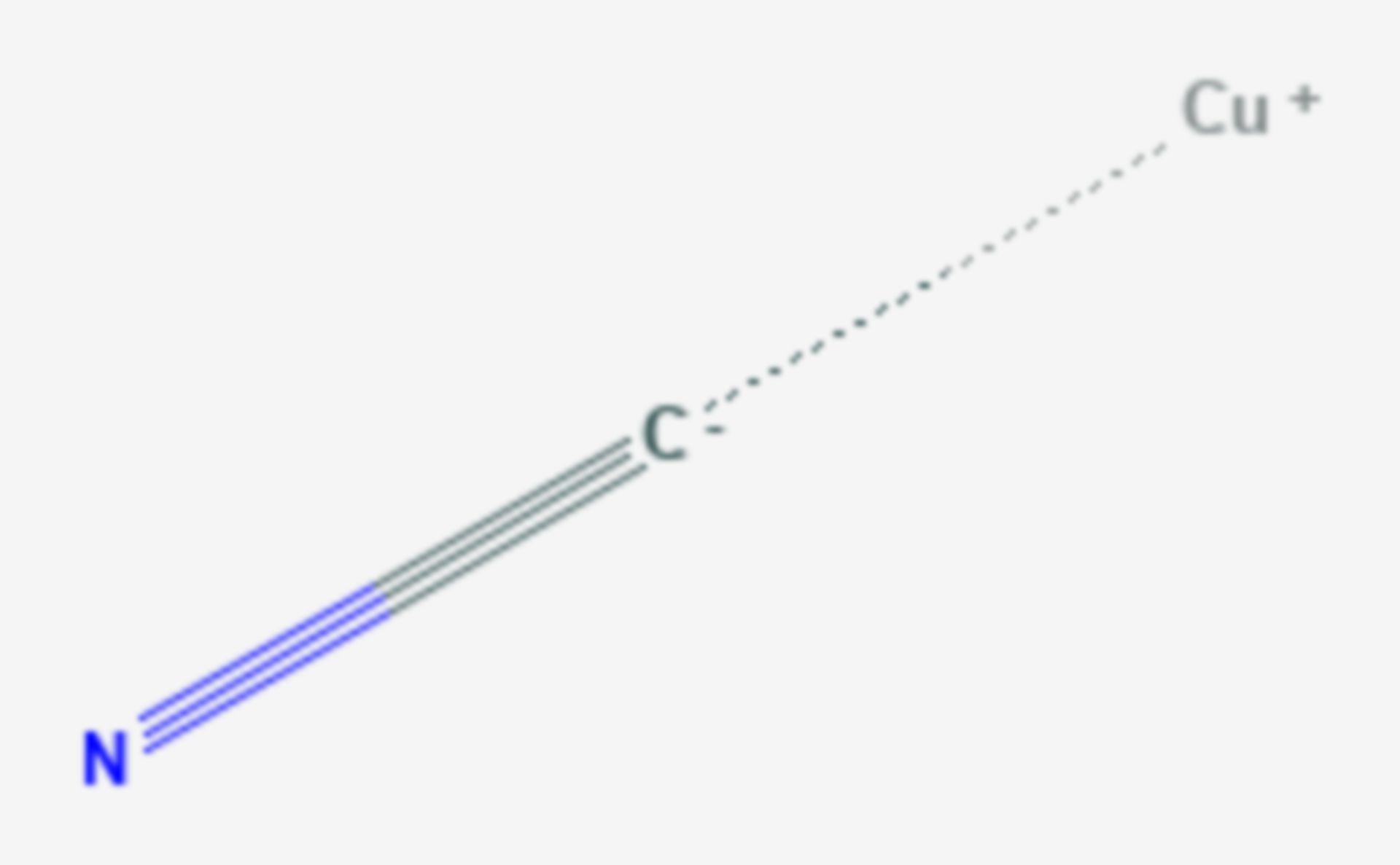 Kupfer(I)-cyanid (Strukturformel)