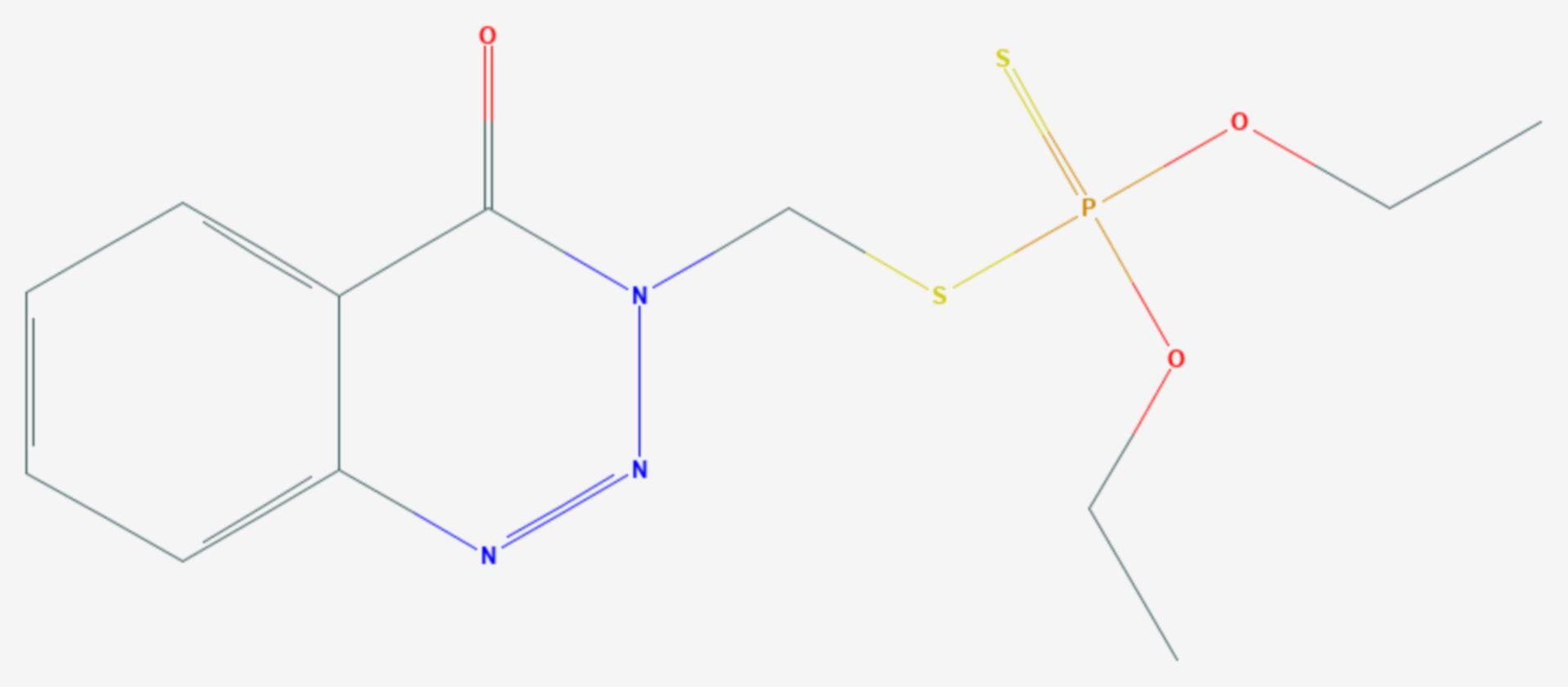 Azinphos-ethyl (Strukturformel)