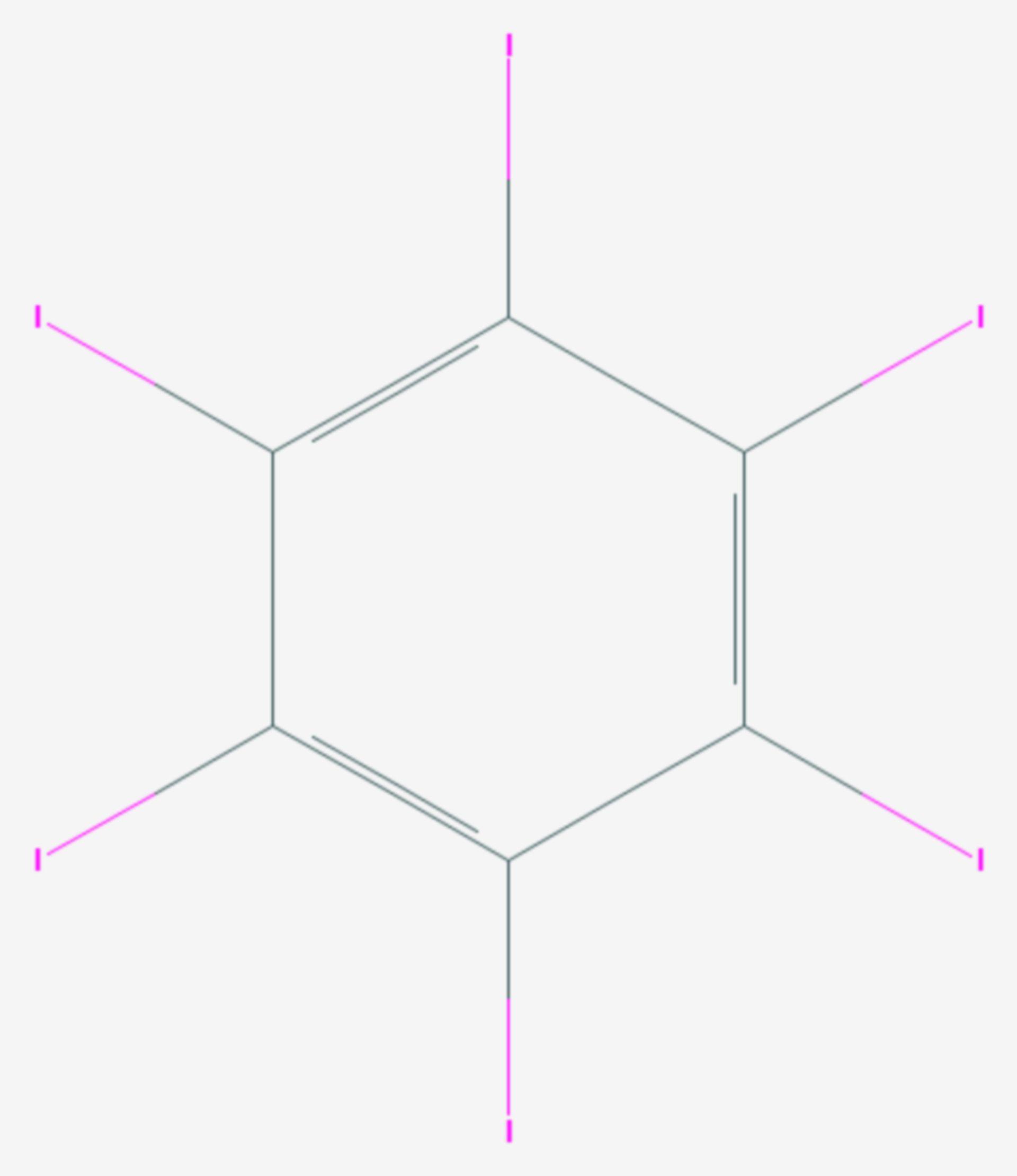 Hexaiodbenzol (Strukturformel)