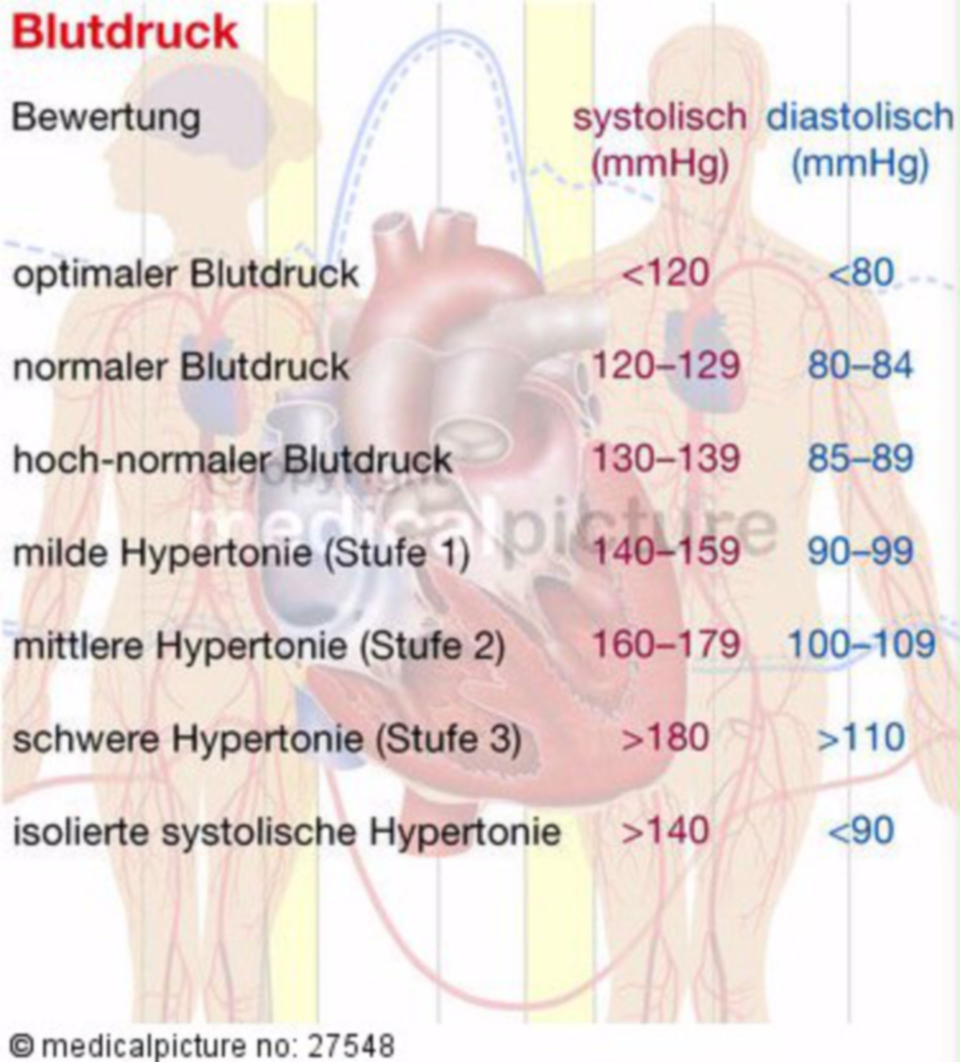 Valori di pressione del sangue e la loro classificazione
