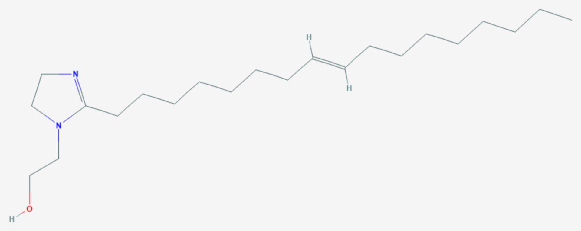 2-(2-Heptadec-8-enyl-2-imidazolin-1-yl)ethanol (Strukturformel)