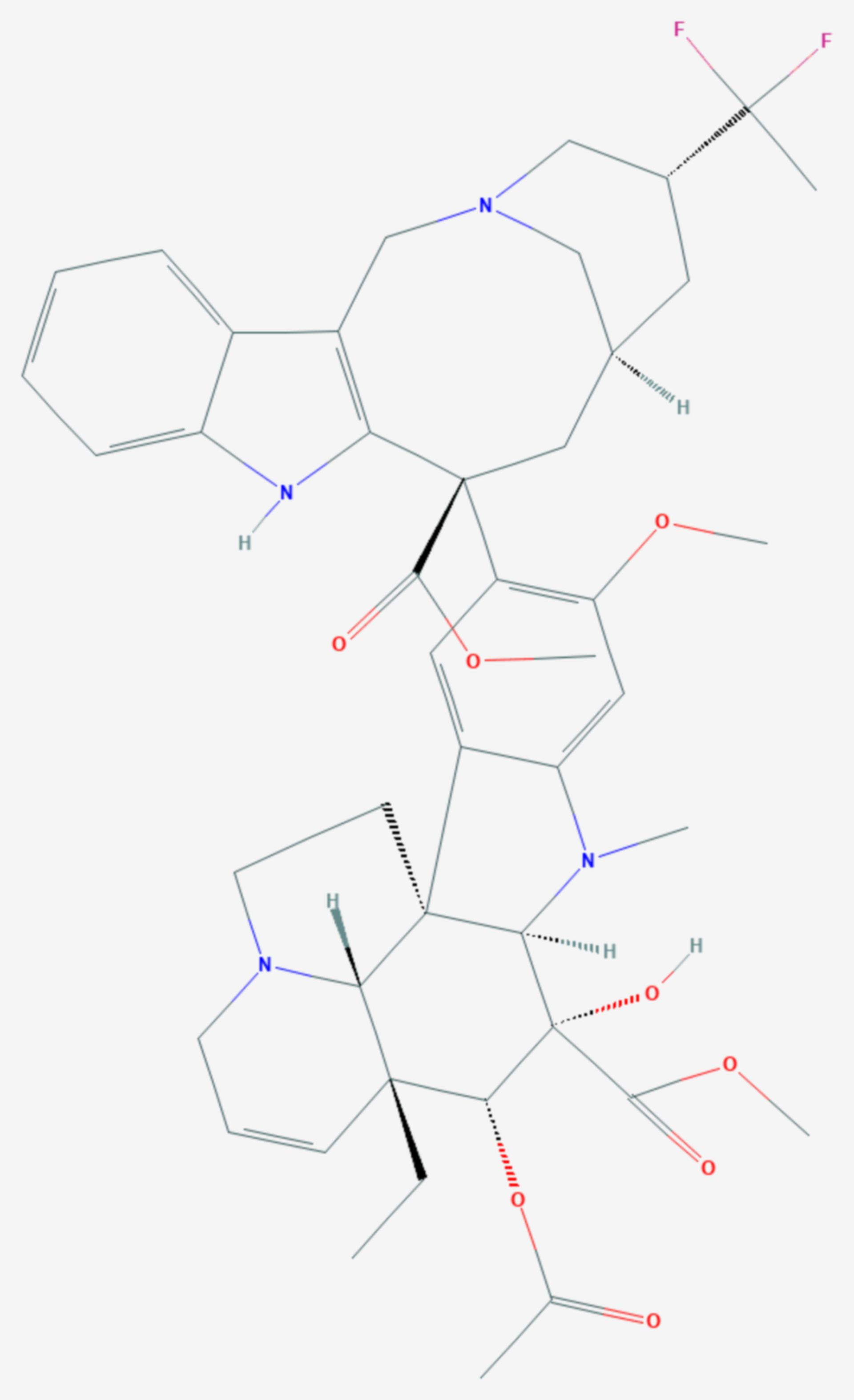 Vinflunin (Strukturformel)