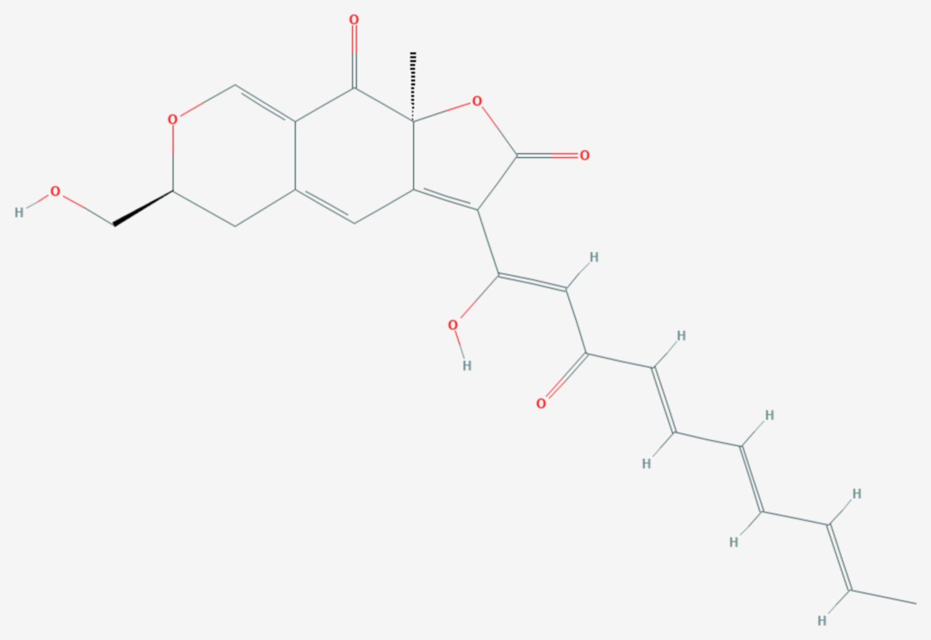 Epicocconon (Strukturformel)