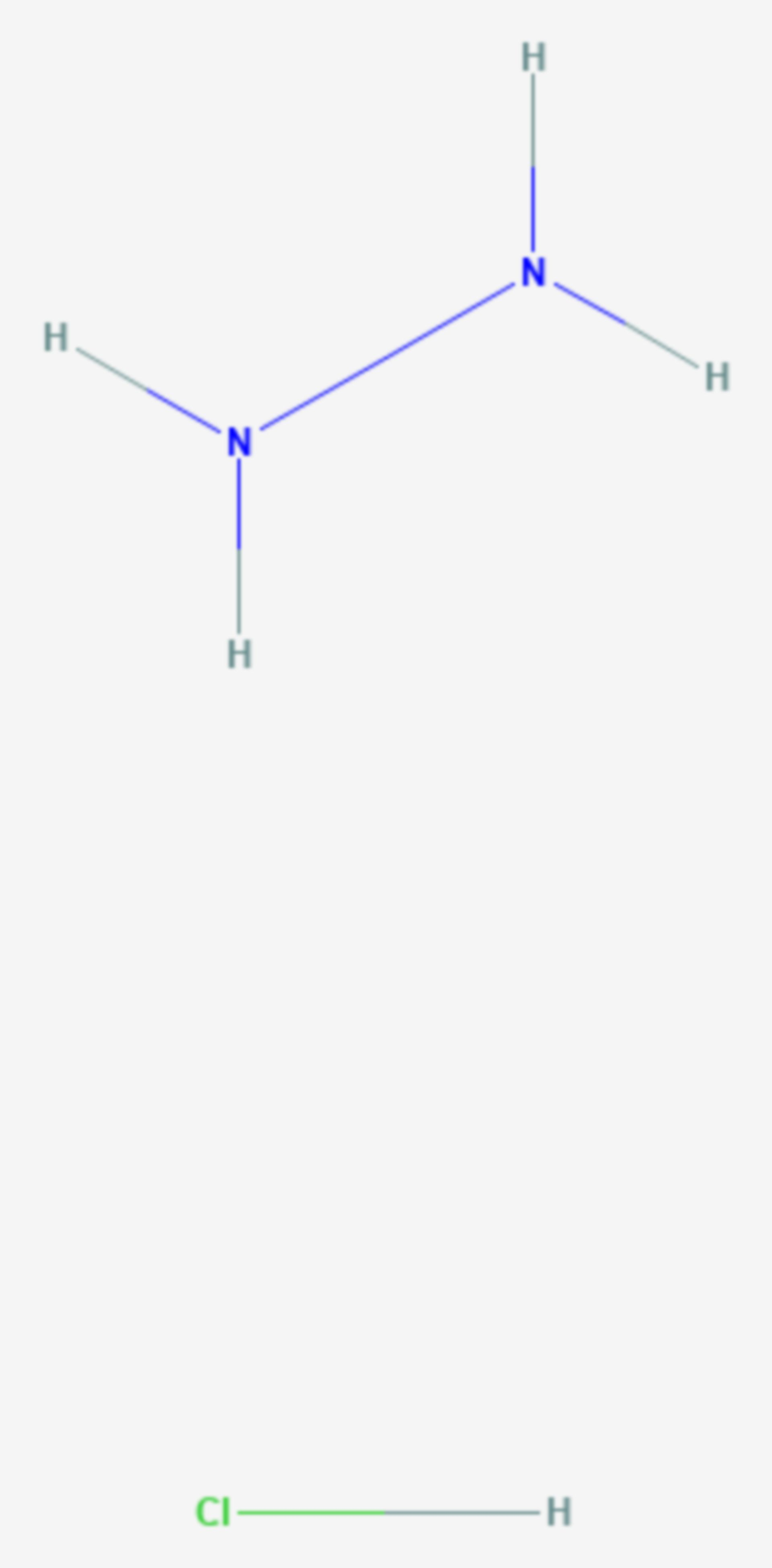 Hydraziniumchlorid (Strukturformel)