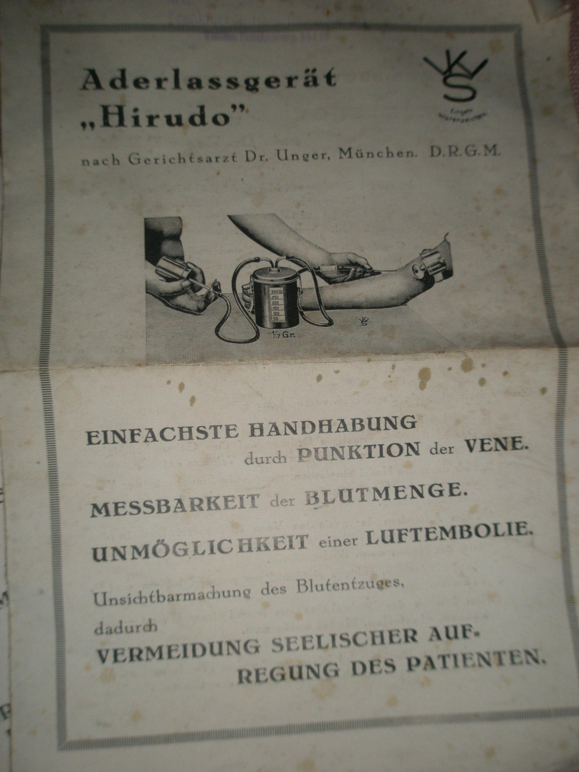 Dispositivo salasso del 1920
