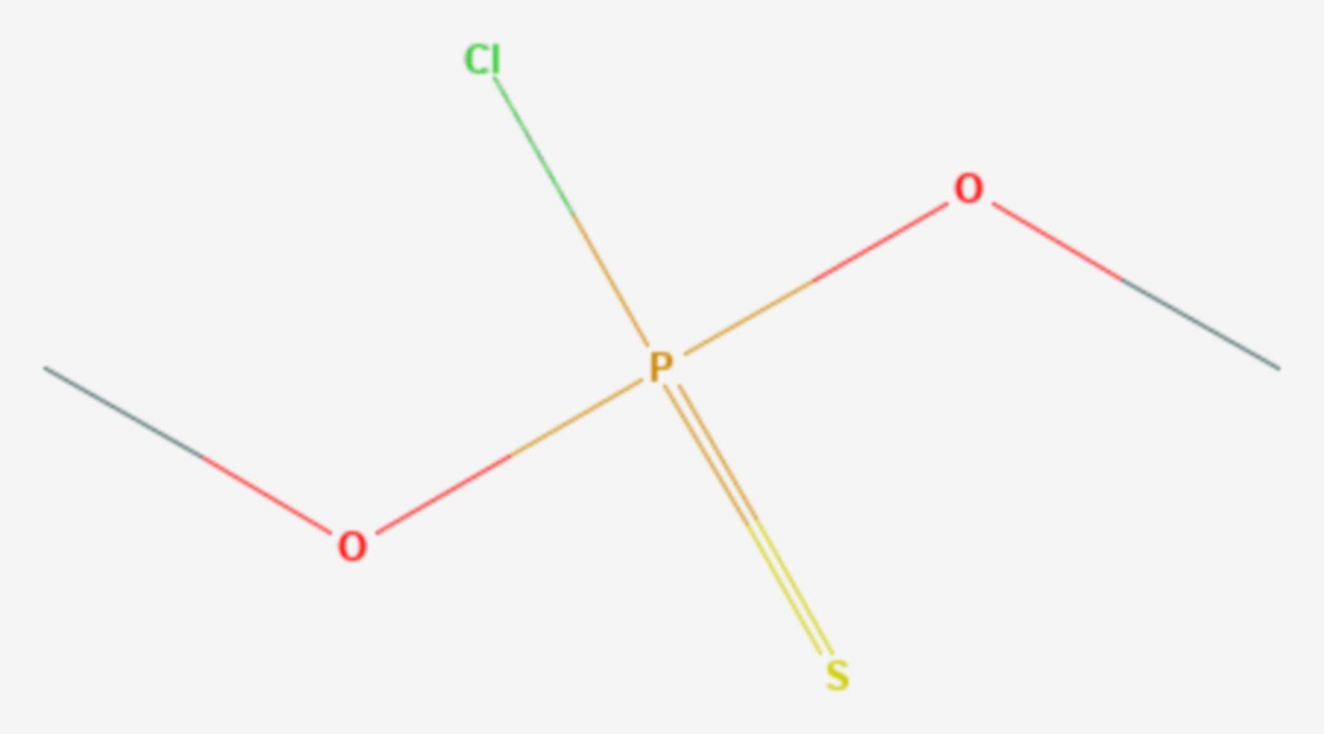 O,O-Dimethylchlorthiophosphat (Strukturformel)