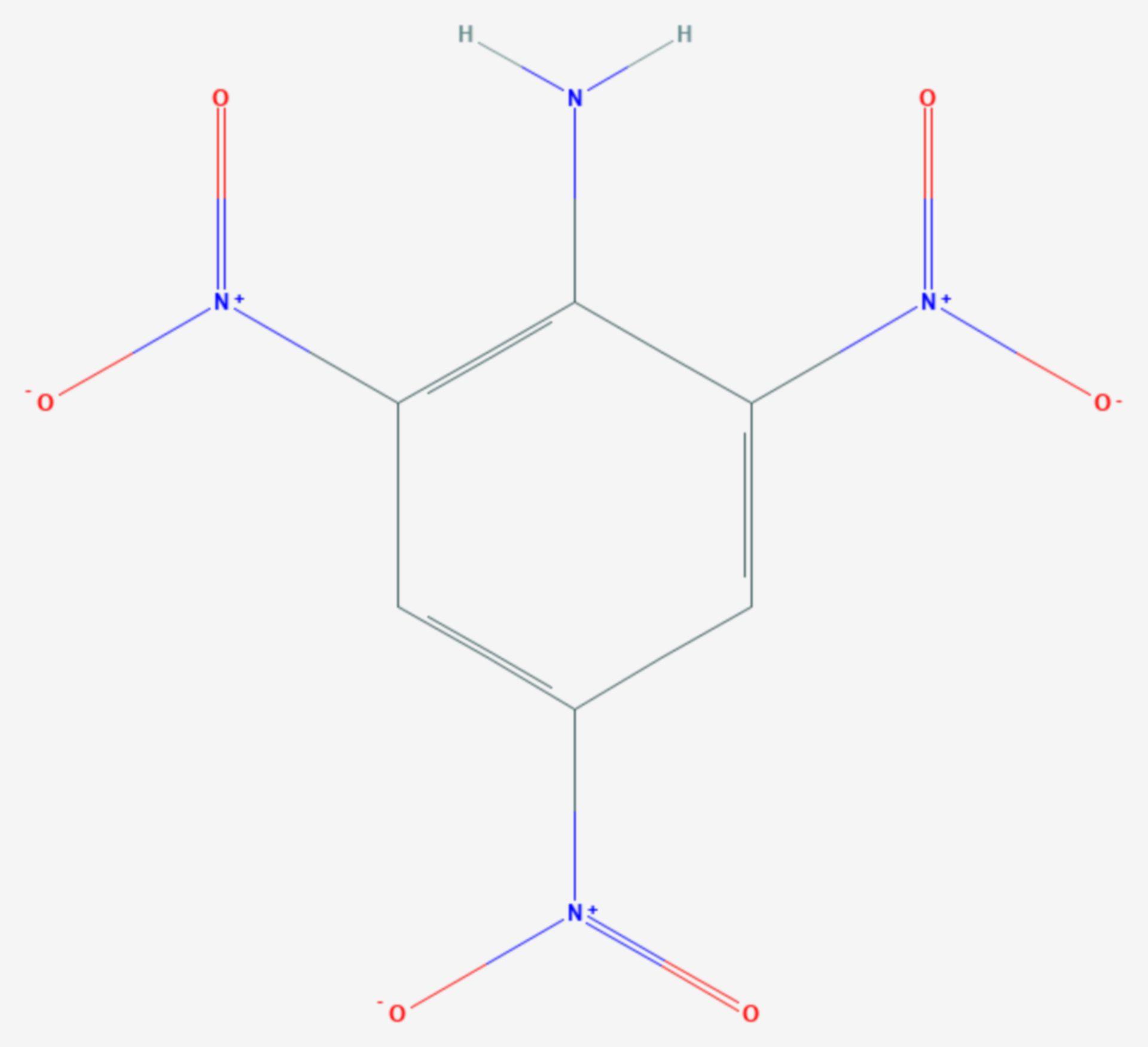 Trinitroanilin (Strukturformel)