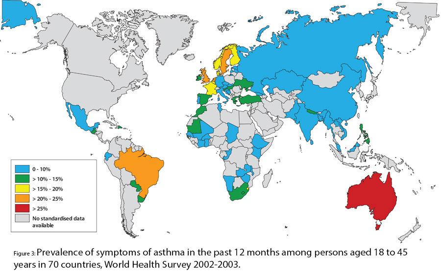 Asthma weltweit