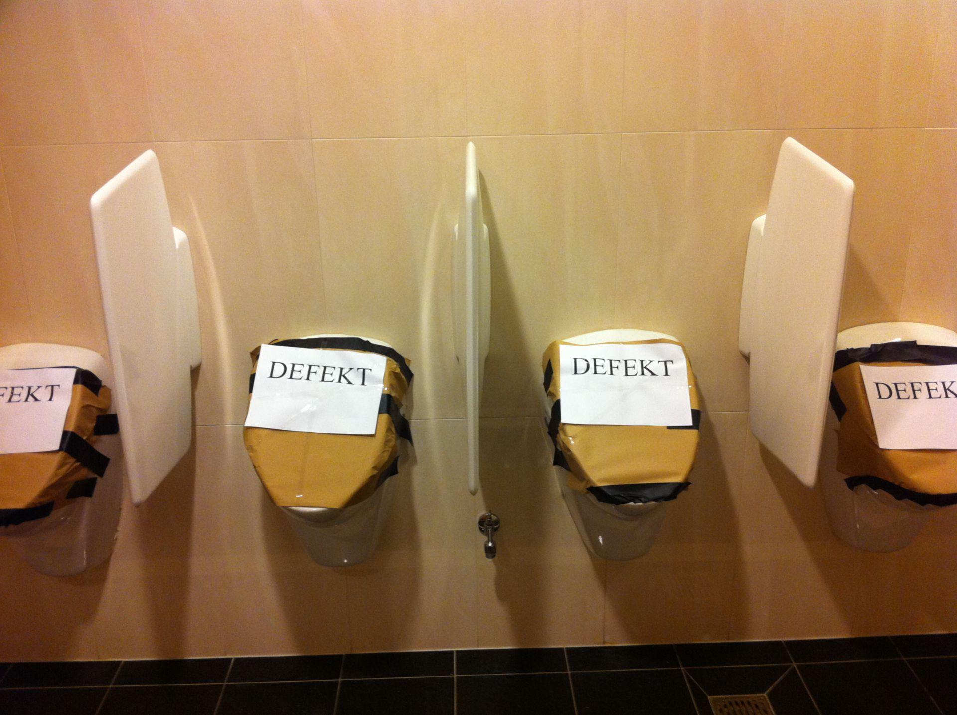 Toiletten in der urologischen Ambulanz