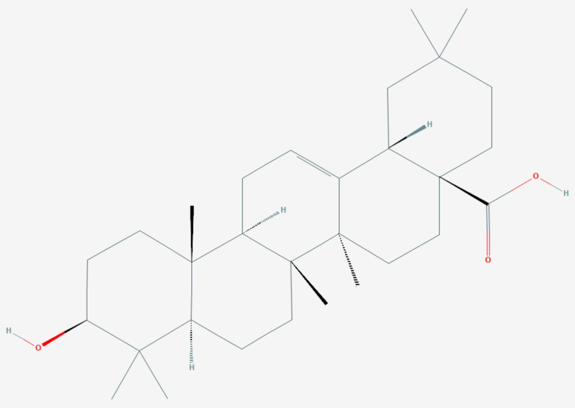 Oleanolsäure (Strukturformel)