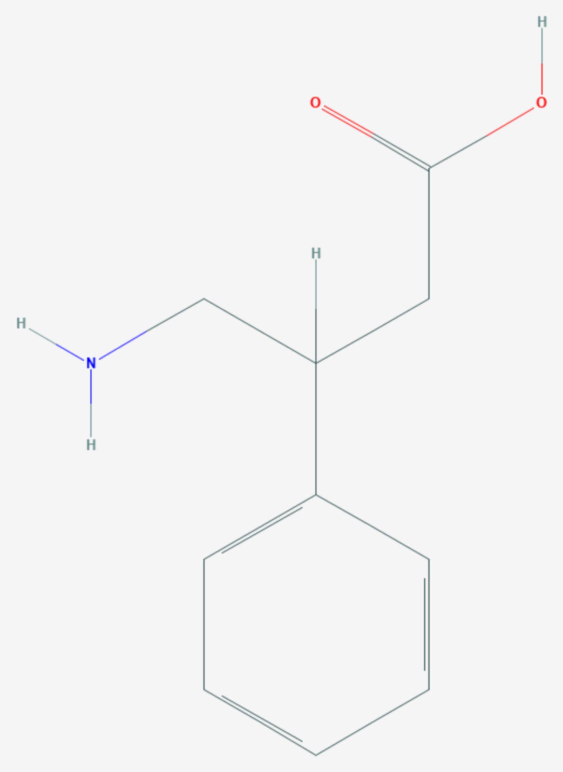 Phenibut (Strukturformel)