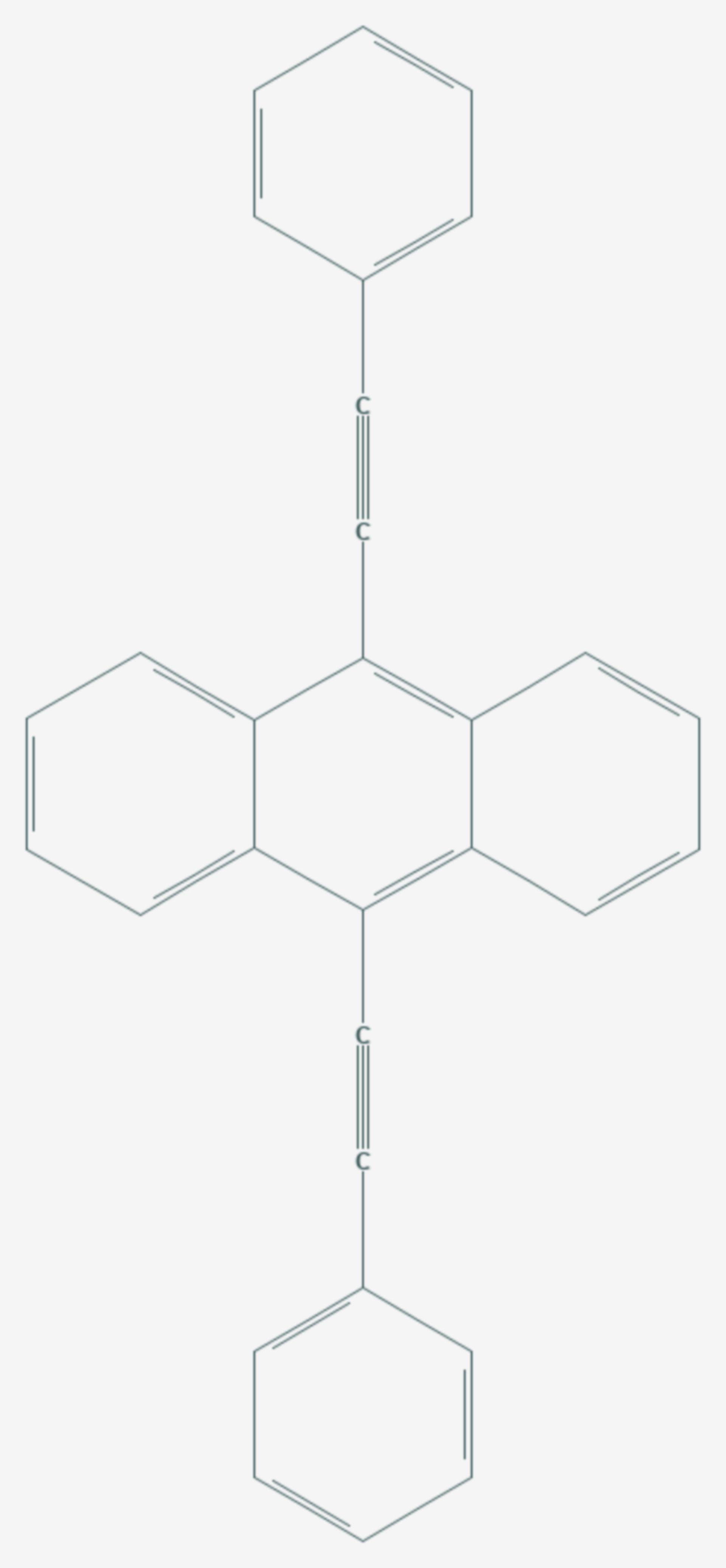 9,10-Bis(phenylethinyl)anthracen (Strukturformel)