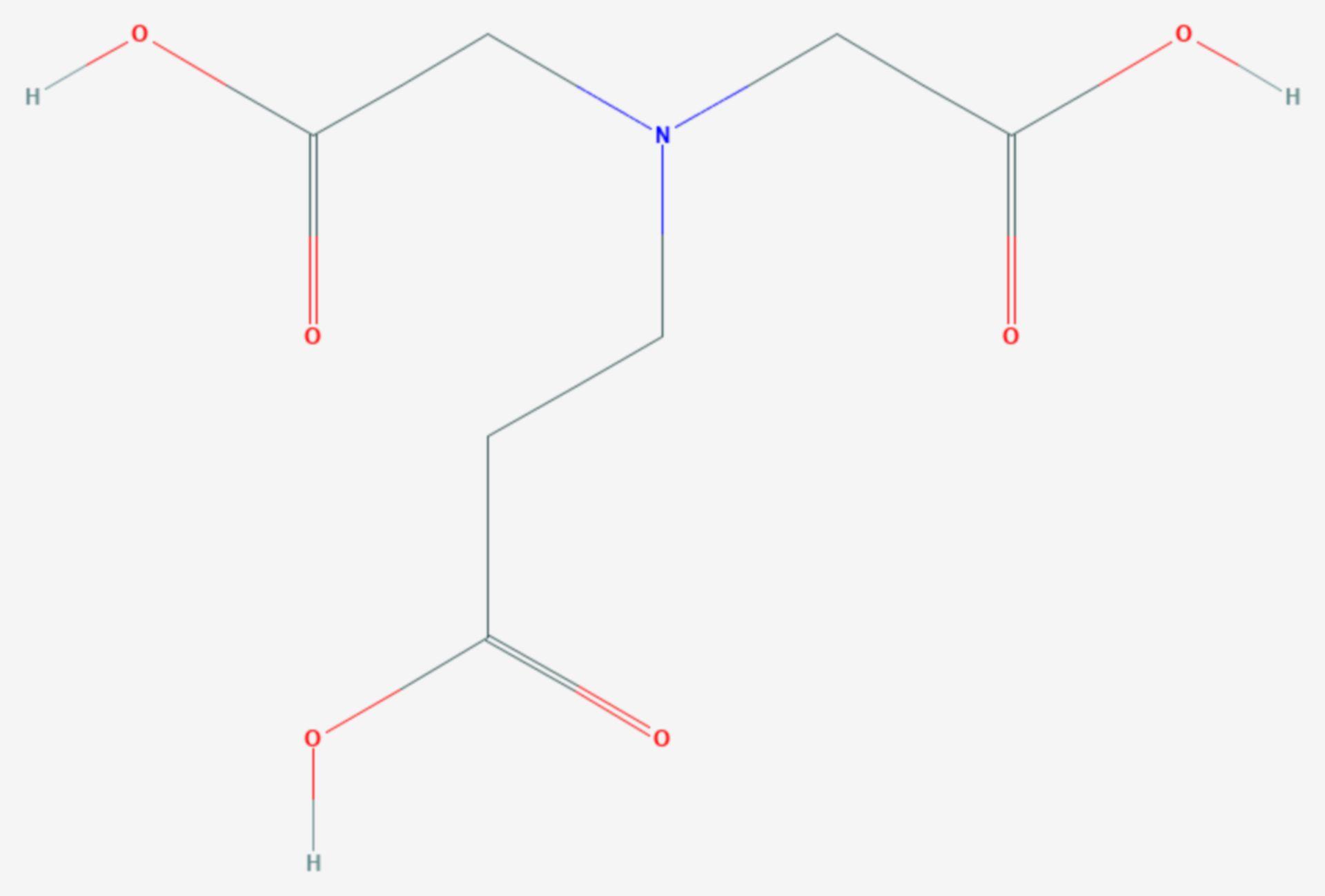 Β-Alanindiessigsäure (Strukturformel)