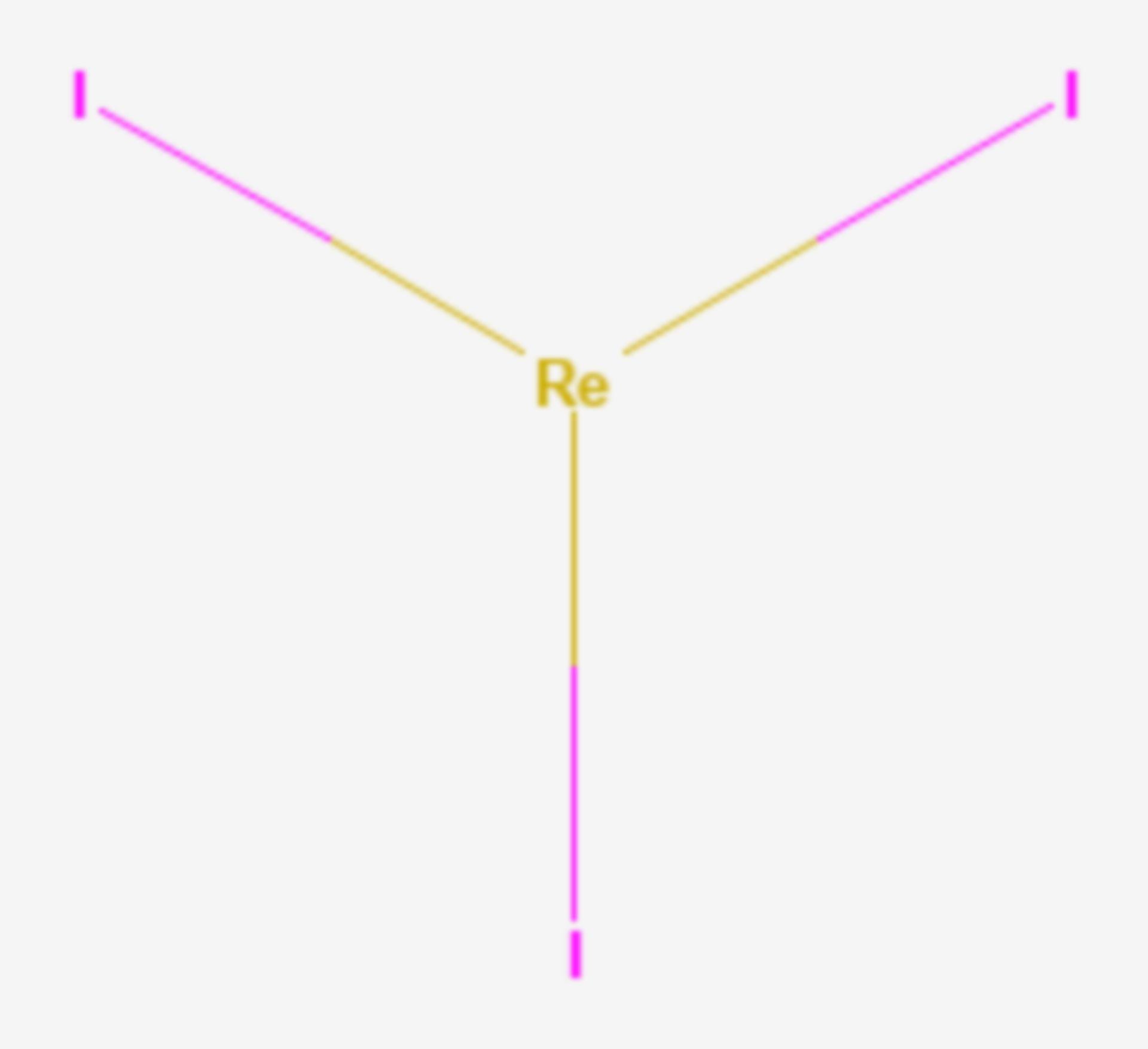 Rhenium(III)-iodid (Strukturformel)