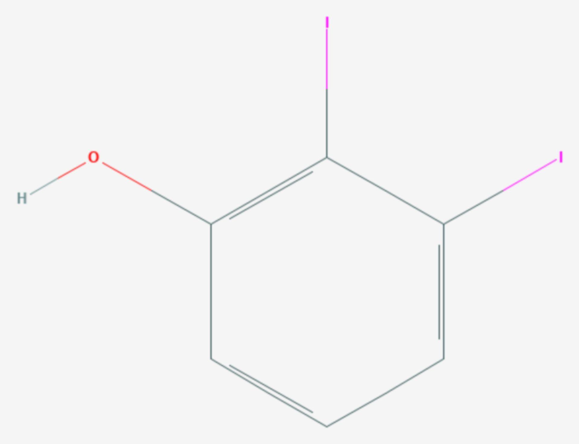 2,3-Diiodphenol (Strukturformel)