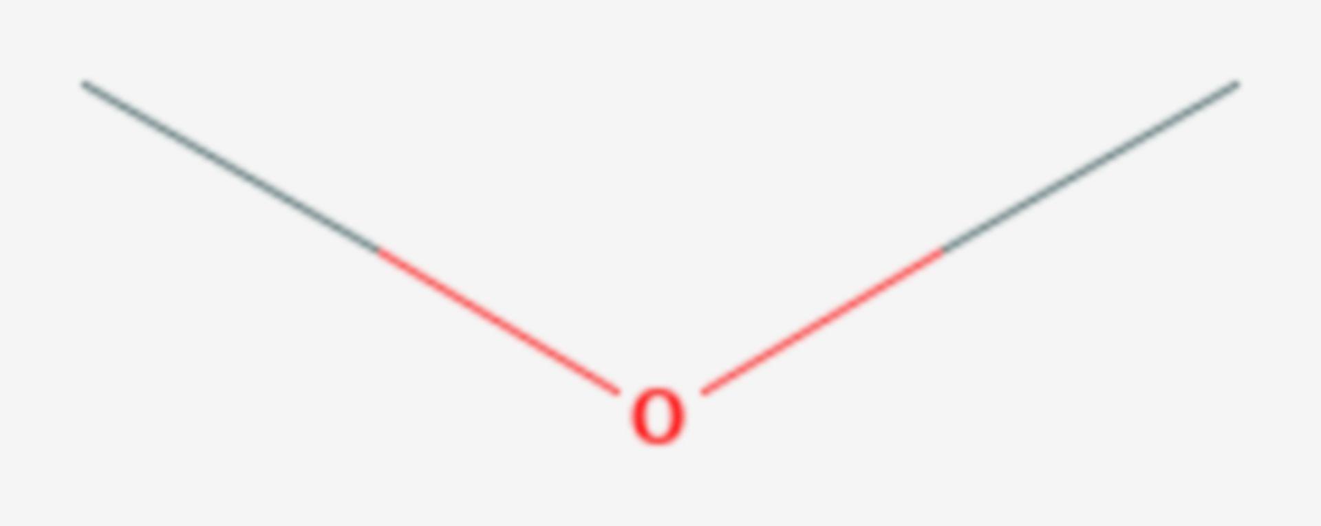 Etere dimetilico (Formula di struttura)