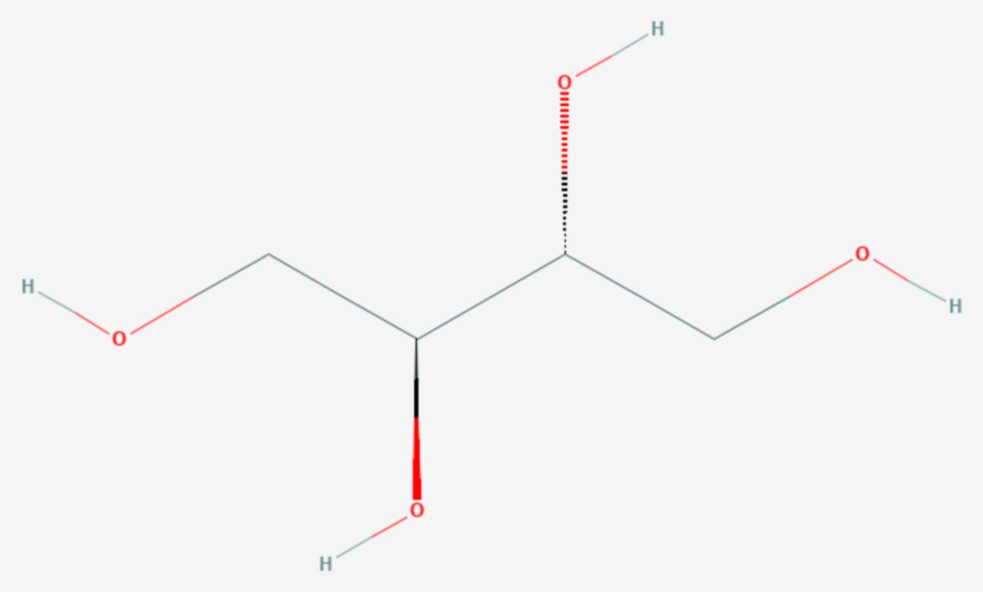 Erythrit (Strukturformel)