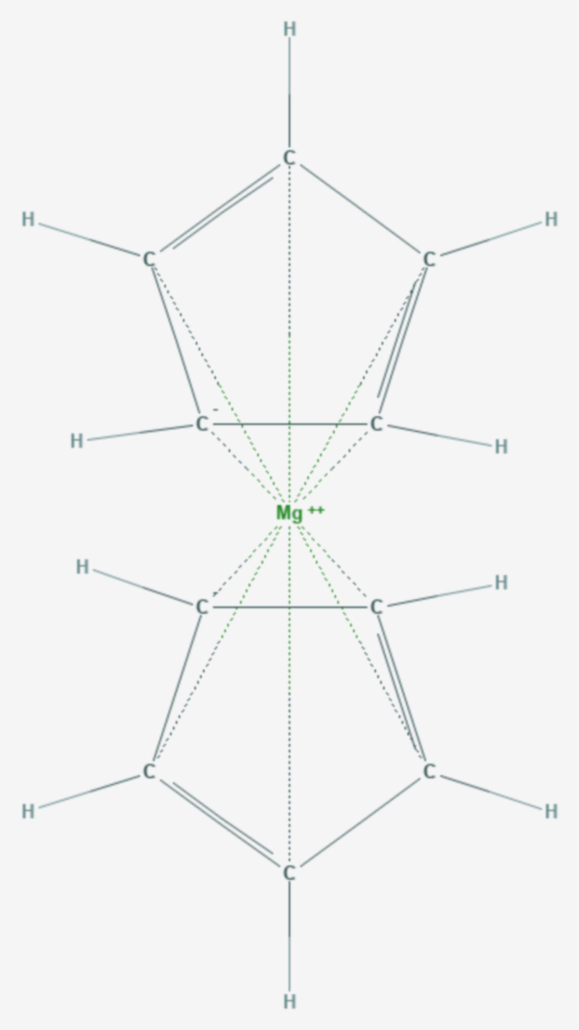 Magnesocen (Strukturformel)