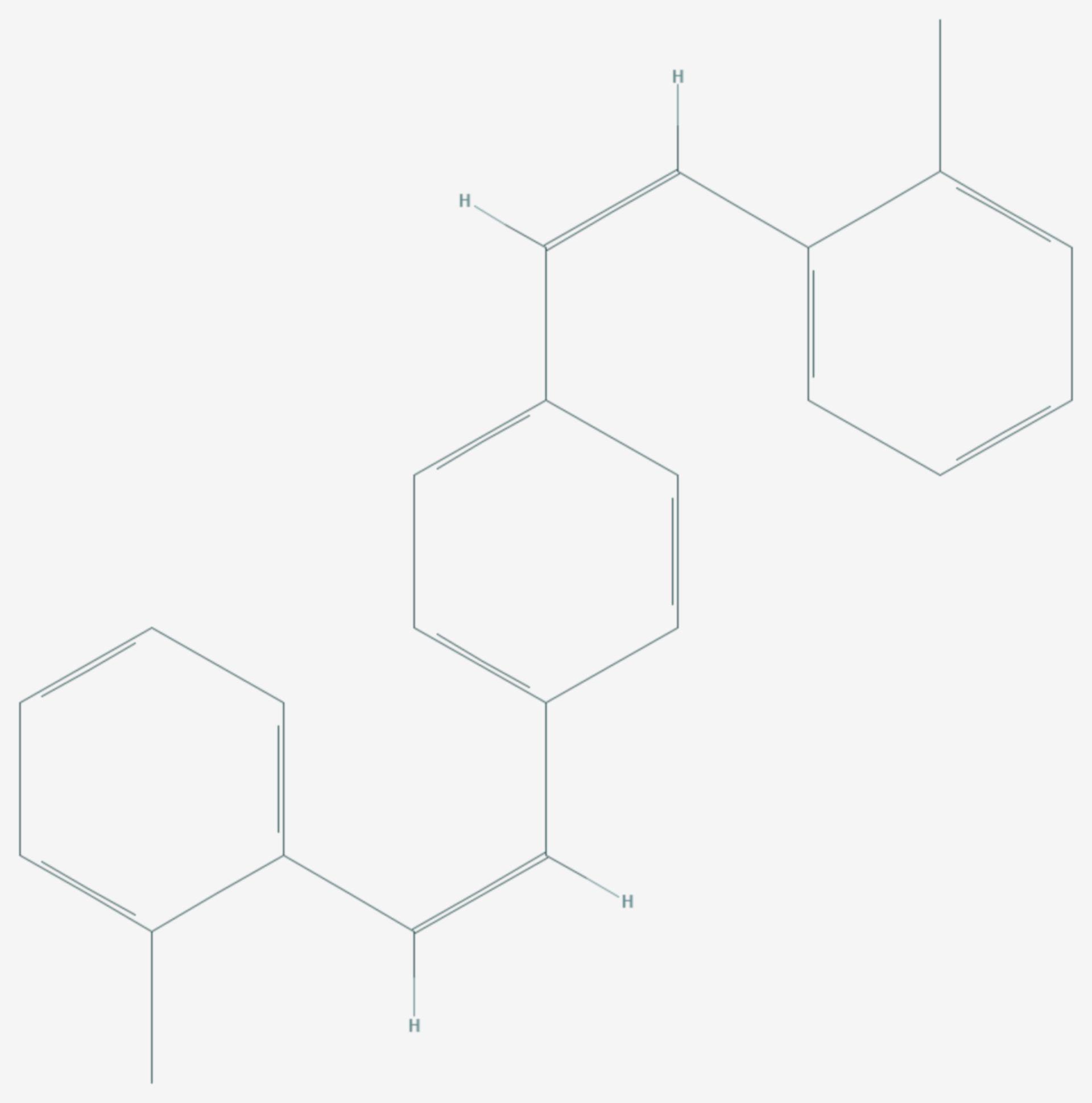 1,4-Bis(2-methylstyryl)benzol (Strukturformel)