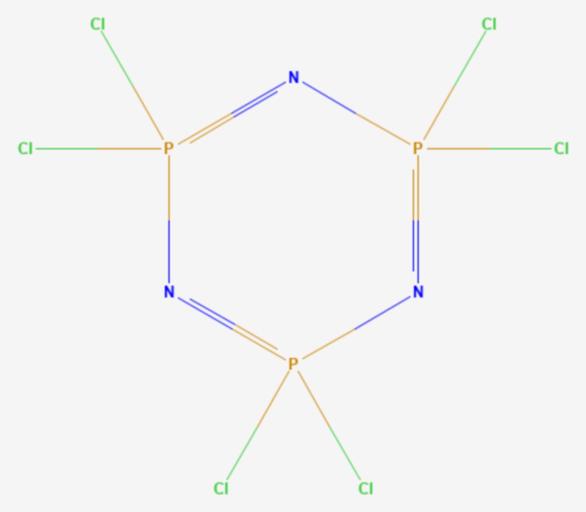 Hexachlorphosphazen (Strukturformel)