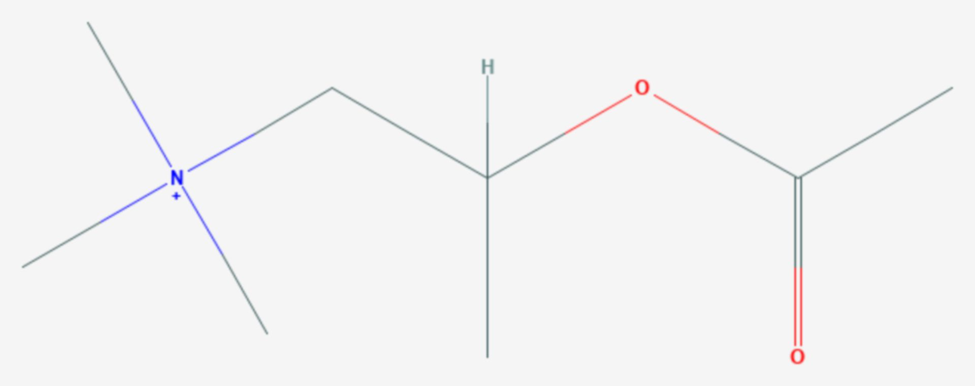 Methacholin (Strukturformel)