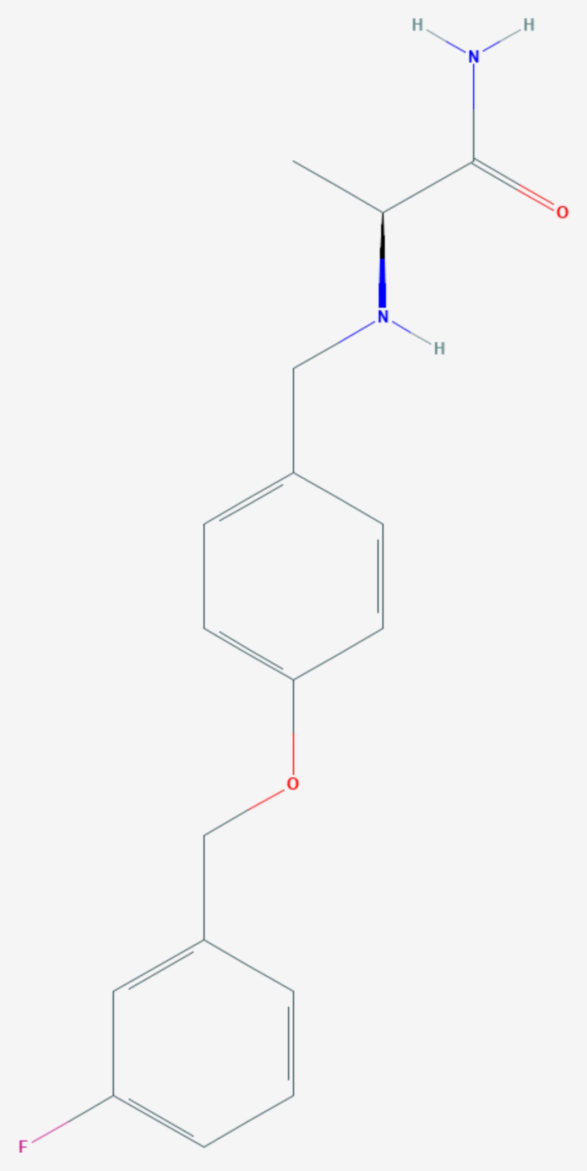 Safinamid (Strukturformel)