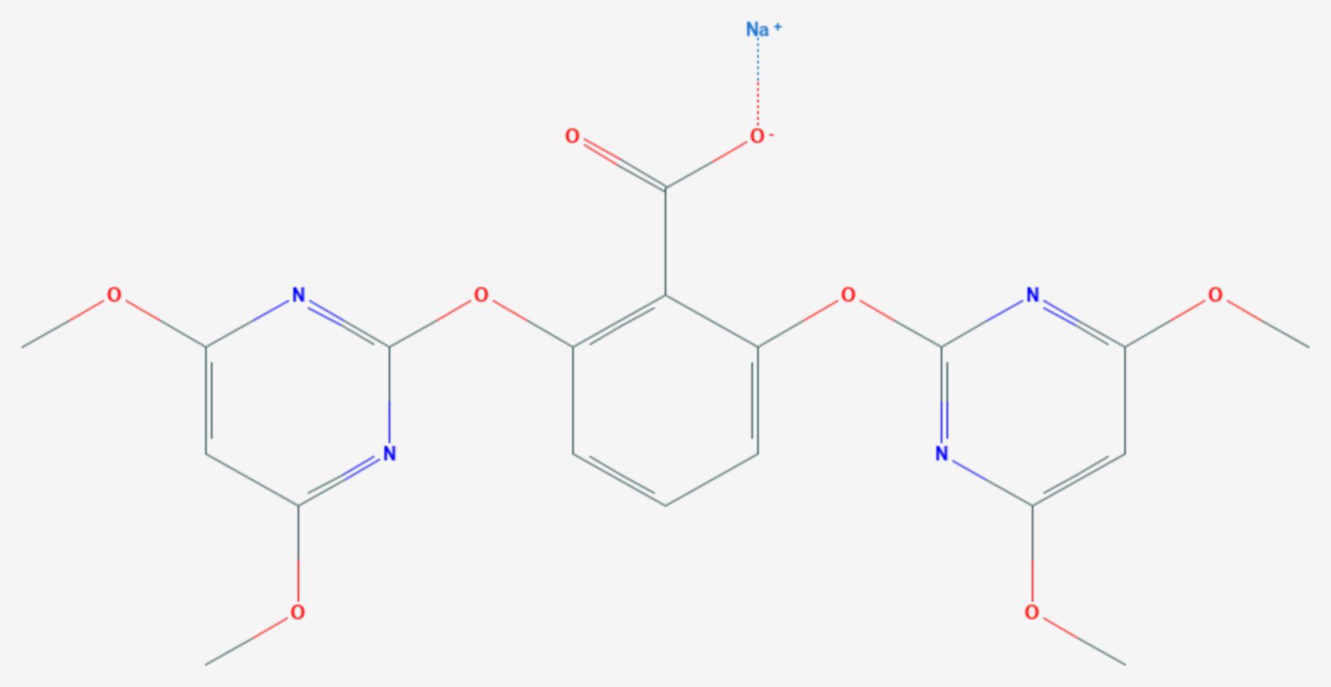 Bispyribac-Natrium (Strukturformel)