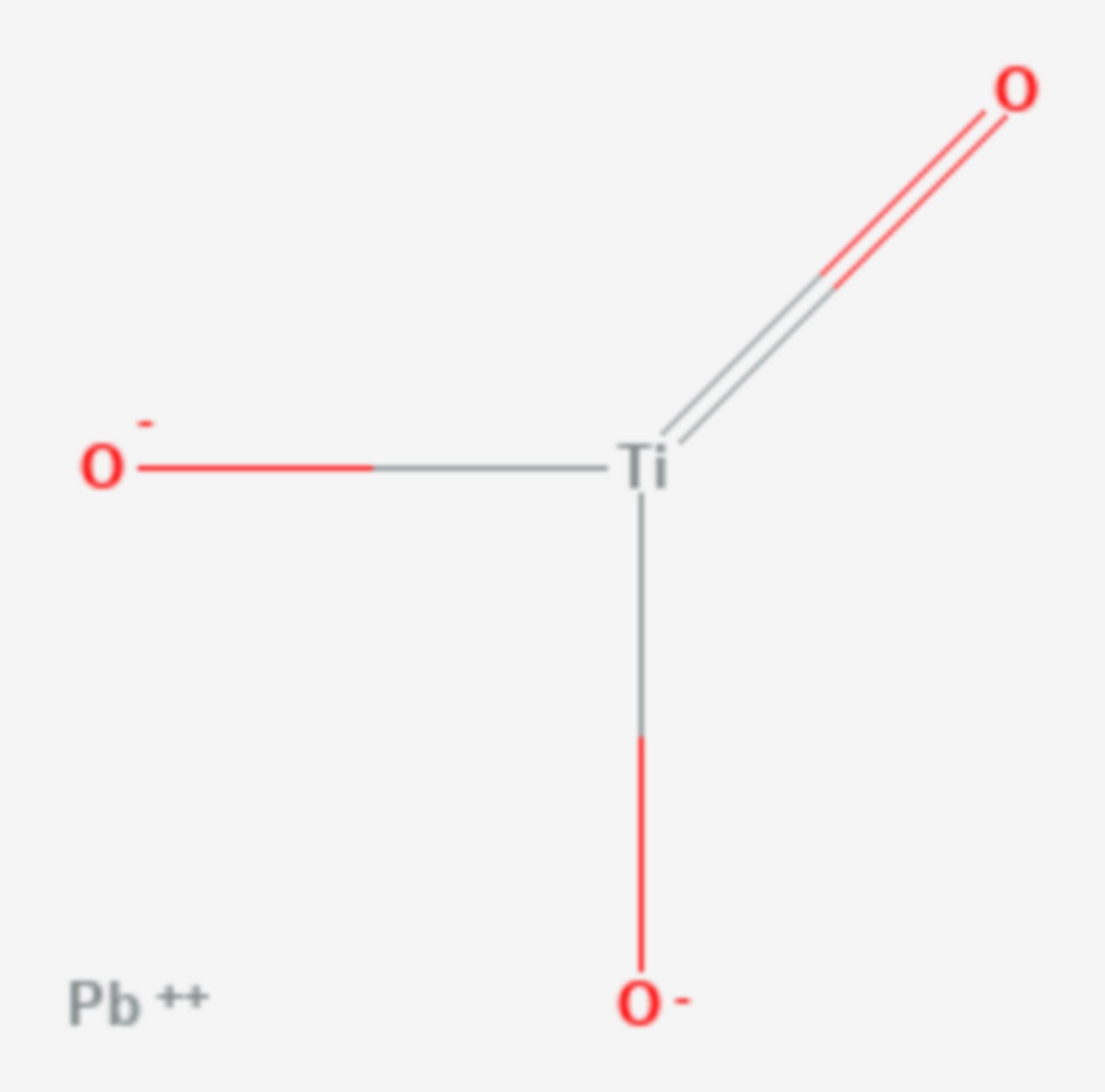 Bleititanat (Strukturformel)
