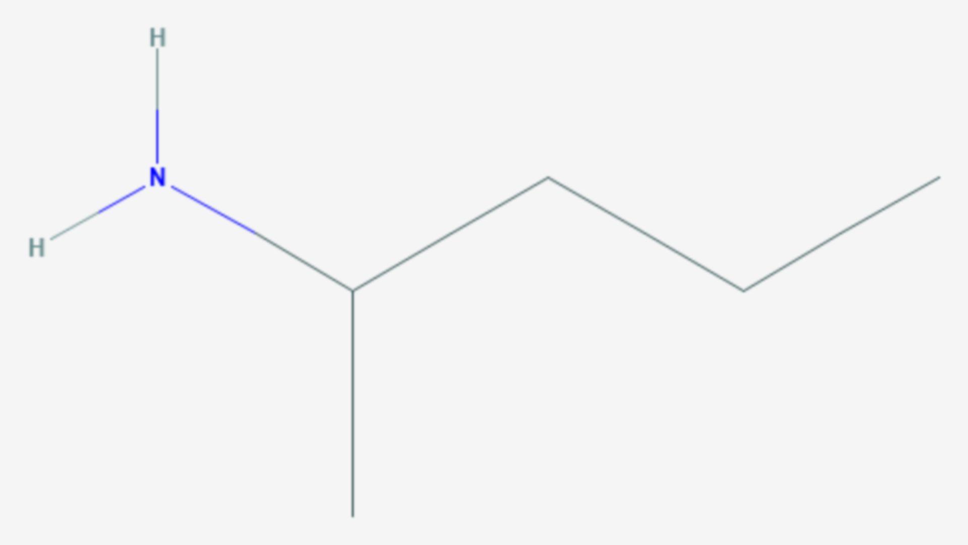 2-Pentylamin (Strukturformel)