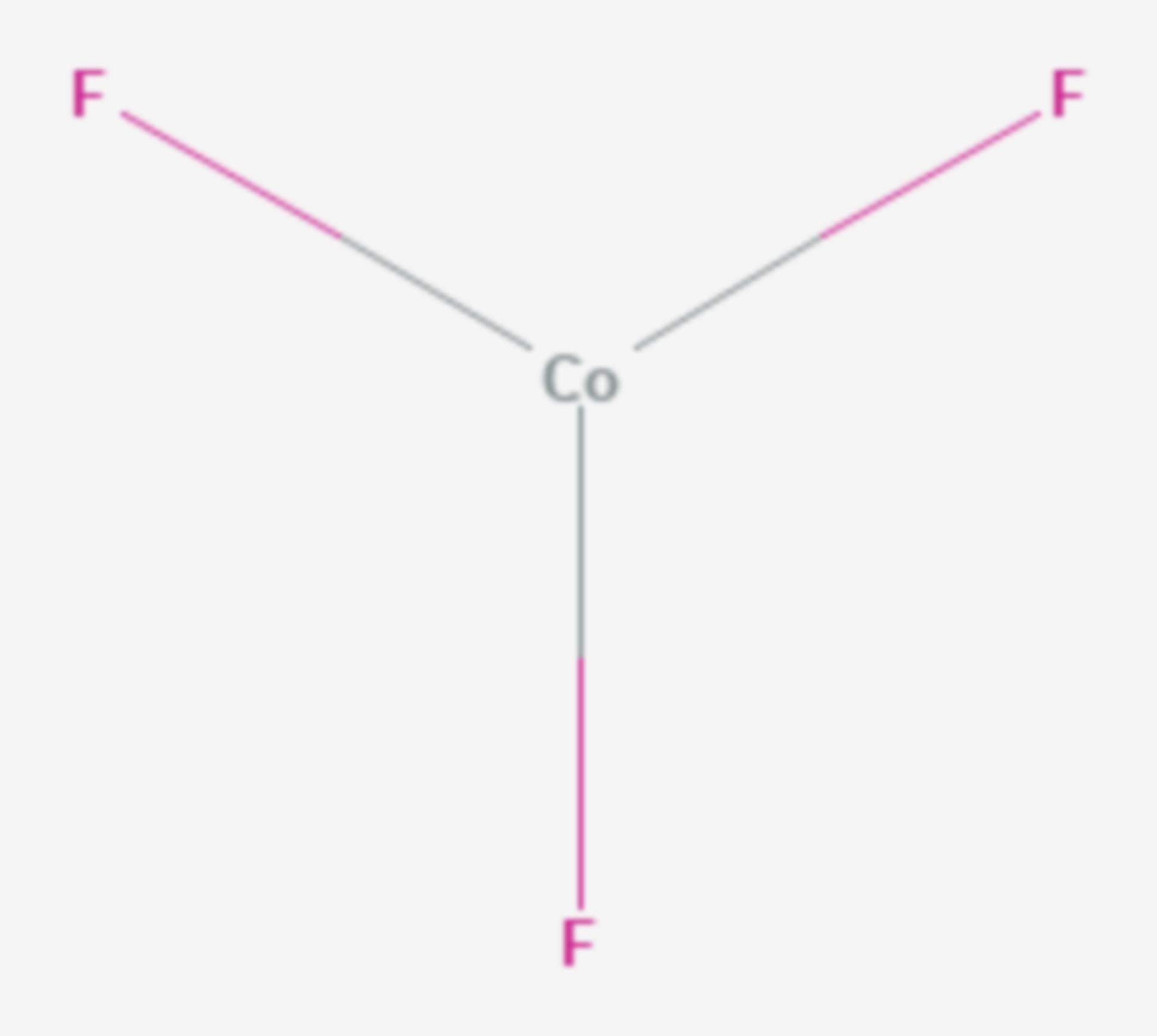 Cobalt(III)-fluorid (Strukturformel)