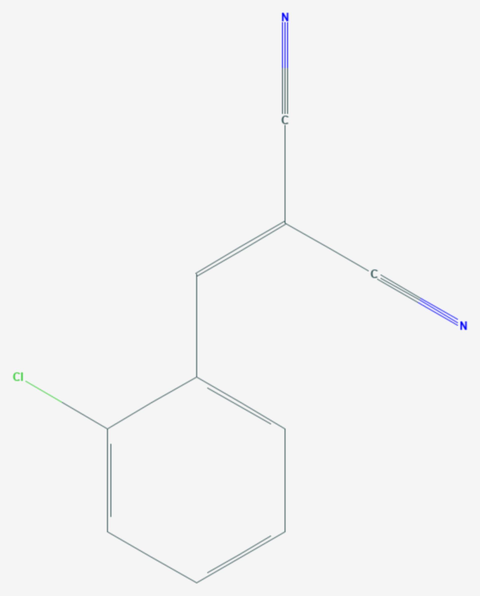 2-Chlorbenzylidenmalonsäuredinitril (Strukturformel)
